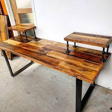 Wood Desk Ideas Interior Design Rustic Style Computer Desk Purple Desk Compact