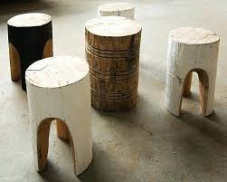 Log Side Table Wood Stump Coffee Tables Above A Small Log Side Table Made In From