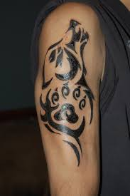 tribal wolf tattoo by xsirslaughterx on deviantart