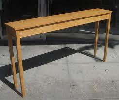 long narrow sofa table engaging skinny tables magnificent
