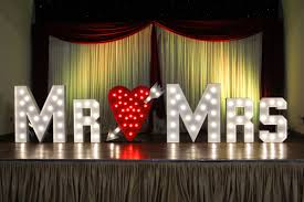 Mr And Mrs Sign For Wedding Locke U0026 Busby Light Up Letters In London