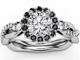 black and white engagement rings engagement ring black halo engagement ring twisted pave
