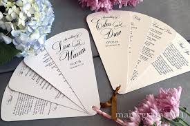 petal fan wedding programs 4 blade petal program fan heart style wedding ceremony programs