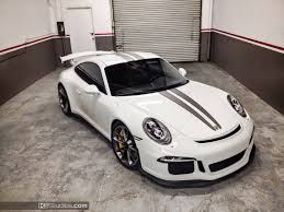 porsche fashion grey this stripe kit for the porsche 991 gt3 features dual color over