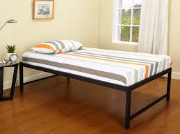 twin storage bed frame without headboard modern bedding
