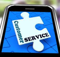 Customer Help Desk Customer Service On Smartphone Showing Online Support Royalty Free