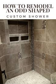 Building A Bathroom Shower How To Remodel An Shaped Custom Shower Stall