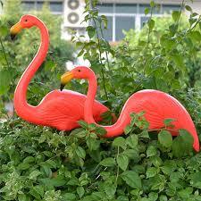 1 pair lawn flamingo figurine plastic grassland garden