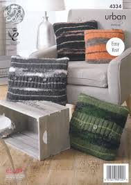 Patterns For Knitted Cushion Covers Easy Knit Knitting Pattern Round Square Tube Heart Cushions King