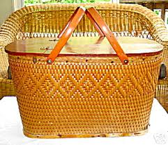 vintage picnic basket redmon vintage picnic basket household at hnhco enterprises llc