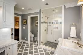 gray bathroom with blue accents bathroom traditional with gray