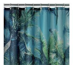 buy home palm trees shower curtain blue u0026 green at argos co uk