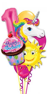 balloon arrangements for delivery any age unicorn birthday girl balloon bouquet delivery in dubai