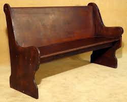 rustic country style wood church pew