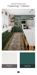 green kitchen cabinets with white countertops refine define 7 gorgeous green kitchens green