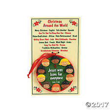 around the world ornaments with card