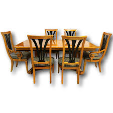 thomasville maple dining table w 6 chairs upscale consignment