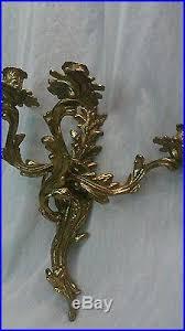 Candelabra Wall Sconces Pretty Vintage Pair Brass 3 Arms Candelabra Wall Sconces Candle