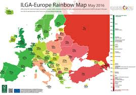 Map Of Europe Test by Uk Slips Down To Third Place In Europe U0027s Lgbt Rights Rankings