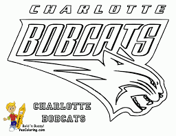 charlotte bobcats basketball nba team coloring pages for boys