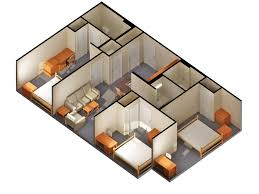 Simple Home Plans by 2bedrooms 3d Vibricate House Plans Images Condointeriordesign Com