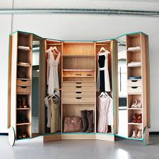 cleverly designed walk in closet showcasing practicability and