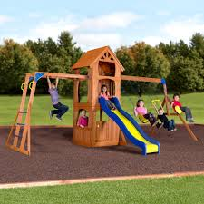 backyard discovery parkway wooden swing set walmart com