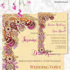 henna invitation indian wedding invitation printable wedding cards wedding
