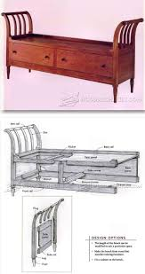 Indoor Storage Bench Design Plans by 3034 Best Furniture Plans Images On Pinterest Woodwork