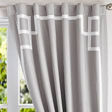 108 Inch Black And White Curtains Emma Ribbon Trim Blackout Drape Pbteen