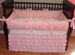 Solid Pink Crib Bedding A The Top But Probably Looks Better With The Other