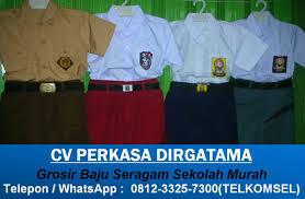 Seragam Sekolah Lengan Panjang grosir pakaian seragam sekolah 0812 3325 7300 tsel telp wa 0812