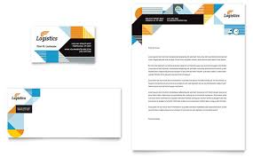 logistics u0026 warehousing business card u0026 letterhead template design