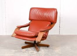 Leather Mid Century Chair Majestic Mid Century Scandinavian Swivel Relax Lounge Chair