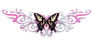 butterfly lower back temporary tattoos 2 5 x 4 25 tmi