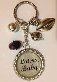 laters baby keychain this listing is for one green custom made laters baby inspired key
