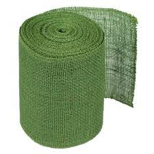 wide ribbon 6 green burlap ribbon 10 yards serged 126 49 7 99