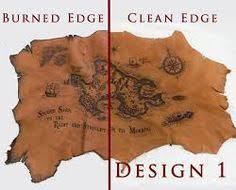 leather map leather pirate map by lagueuse larp props scenery and settings