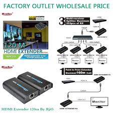 400 Feet factory outlet whosale price hsv373 1080p hdmi extender 120m