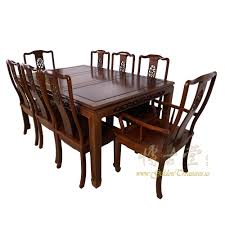 Rosewood Dining Room Set Antique Rosewood Dining Table W 8 Chairs Set 17lp38