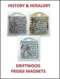 history heraldry vintage driftwood fridge magnets with sentimental
