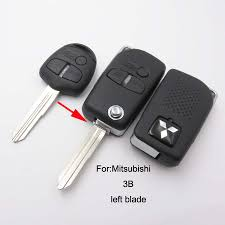 modified mitsubishi lancer ex online shop 1pcs 3 button modified folding flip remote key shell