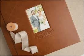 brown leather photo album album spotlight and garret s wedding album