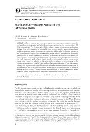 osha technical manual noise health and safety hazards associated with subways a review pdf