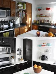 Painting Oak Kitchen Cabinets Ideas Painting Oak Kitchen Cabinets Before And After Pretentious Design