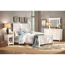 Bed Frame White White Beds Headboards Bedroom Furniture The Home Depot