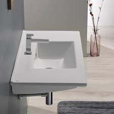Rectangular Drop In Bathroom Sink by Cerastyle 067500 U By Nameek U0027s Arte Rectangular White Ceramic Drop