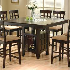 round dining room sets for 6 coaster mix and match cappuccino counter height dining table 100438