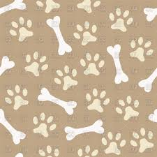 dog u0027s paw print and bone seamless pattern vector clipart image