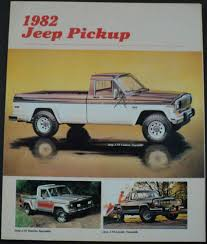 jeep amc jeep pickup j10 j20 townside honcho laredo pioneer amc sales brochure